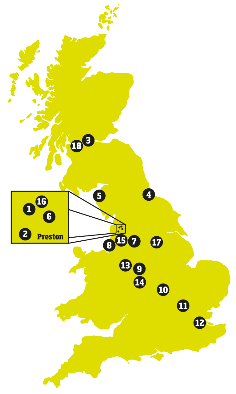 Our Locations across the UK