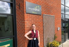 recent graduate reflects on working at recycling lives
