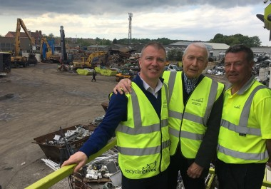 Recycling Lives visited by influential MP