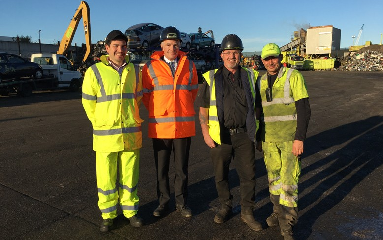 Business minister visits Recycling Lives