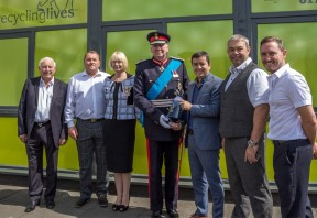 Lord Shuttleworth presents Recycling Lives' third Queen's Award