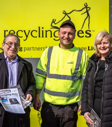Recycling Lives Falkirk praised by politicians