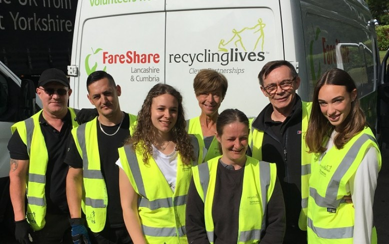 Recycling Lives food charity celebrates its volunteers