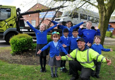 Recycling Lives' generous donation to Preston deaf school